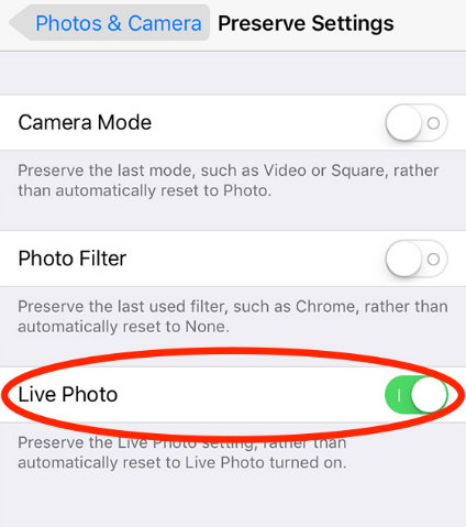 Enable-live-Photos-Preserve-Settings-camera-app-on-iPhone-iOS-10